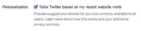 Twitter Personalization