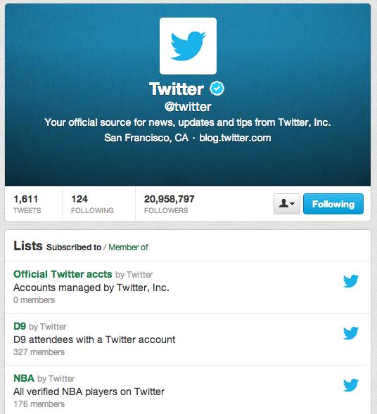 Twitter's Twitter Lists