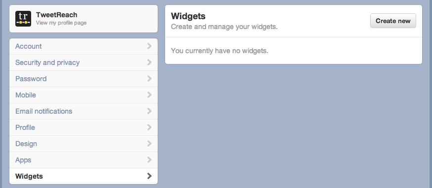 Twitter User Widget 1
