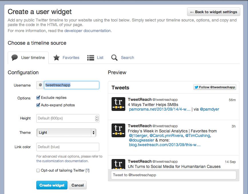 Twitter User Widget 2