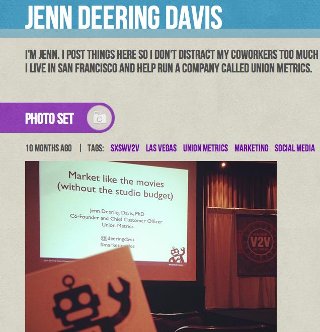 Conference Speaker on Tumblr