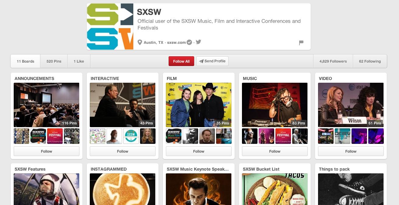 SXSW Pinterest