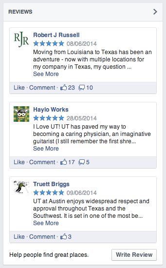 UT FB Reviews