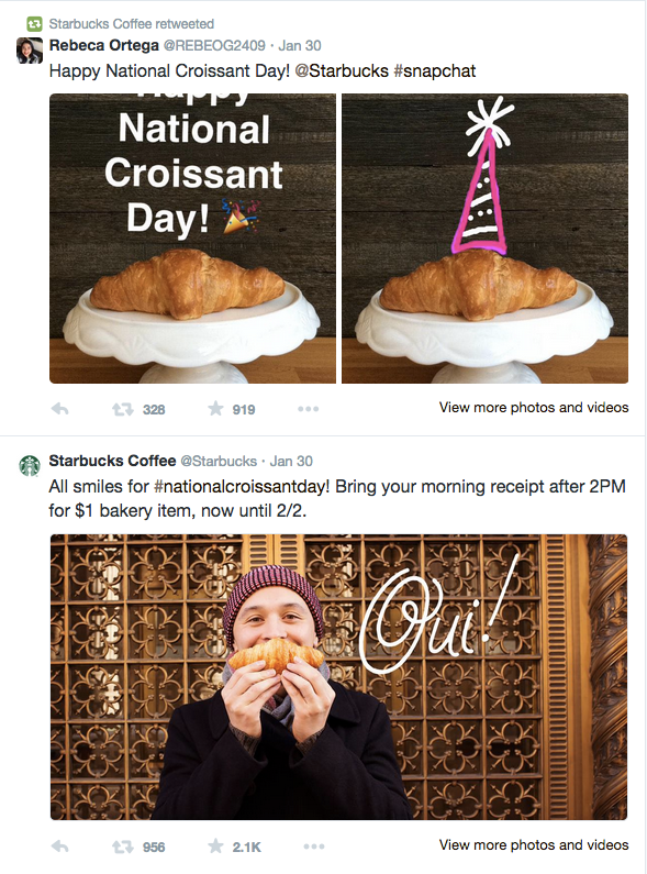 Starbucks visual storytelling Twitter