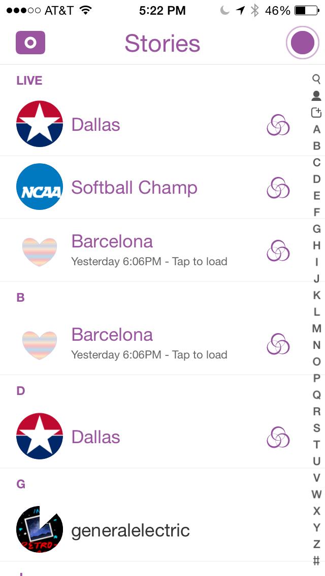 Live on Snapchat