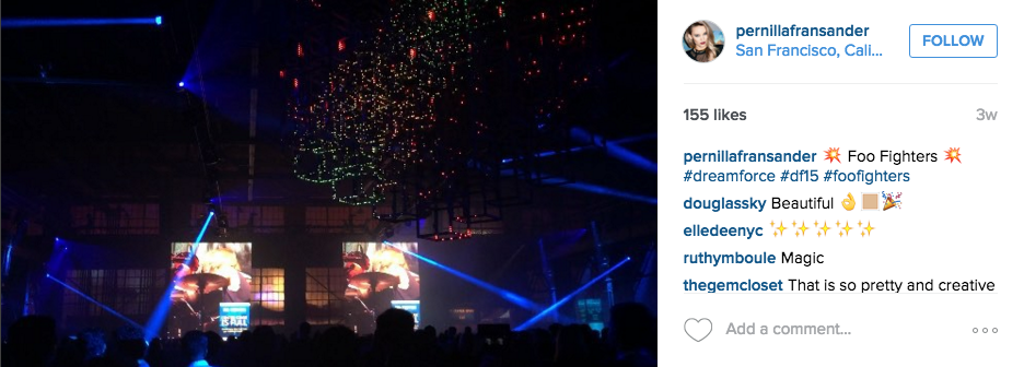 Above via the #dreamforce tag on Instagram.