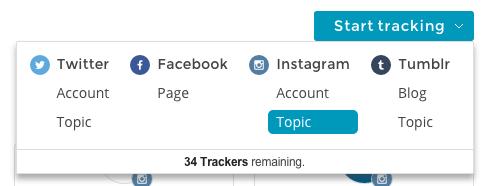 Create a new Tracker
