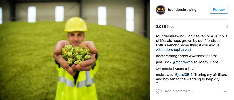 Founders Hop Harvest