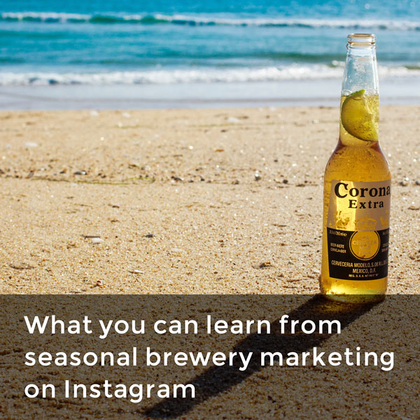 Seasonal brewery marketing on Instagram