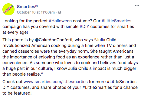 Smarties pairs with bloggers for a sweet Halloween campaign