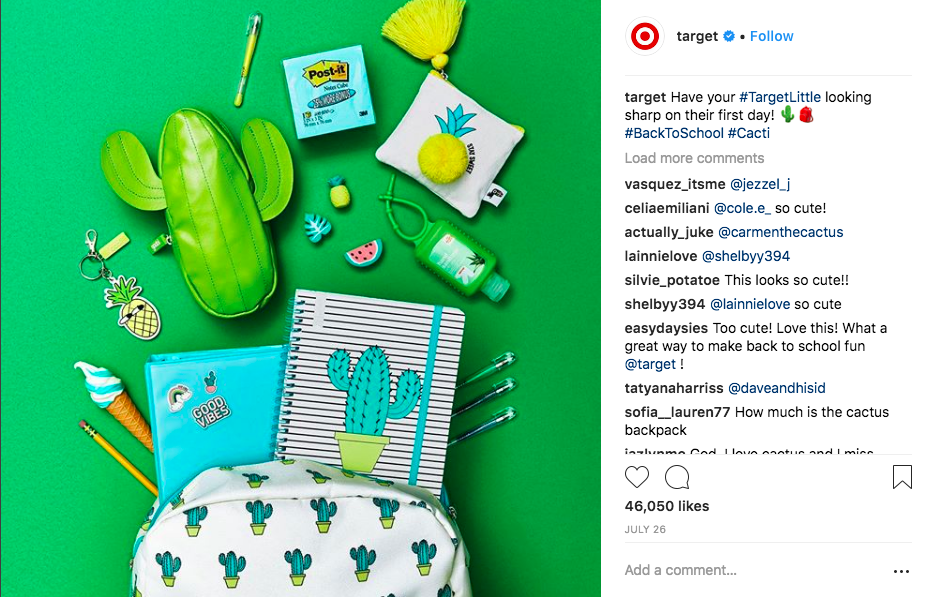 Target back to school