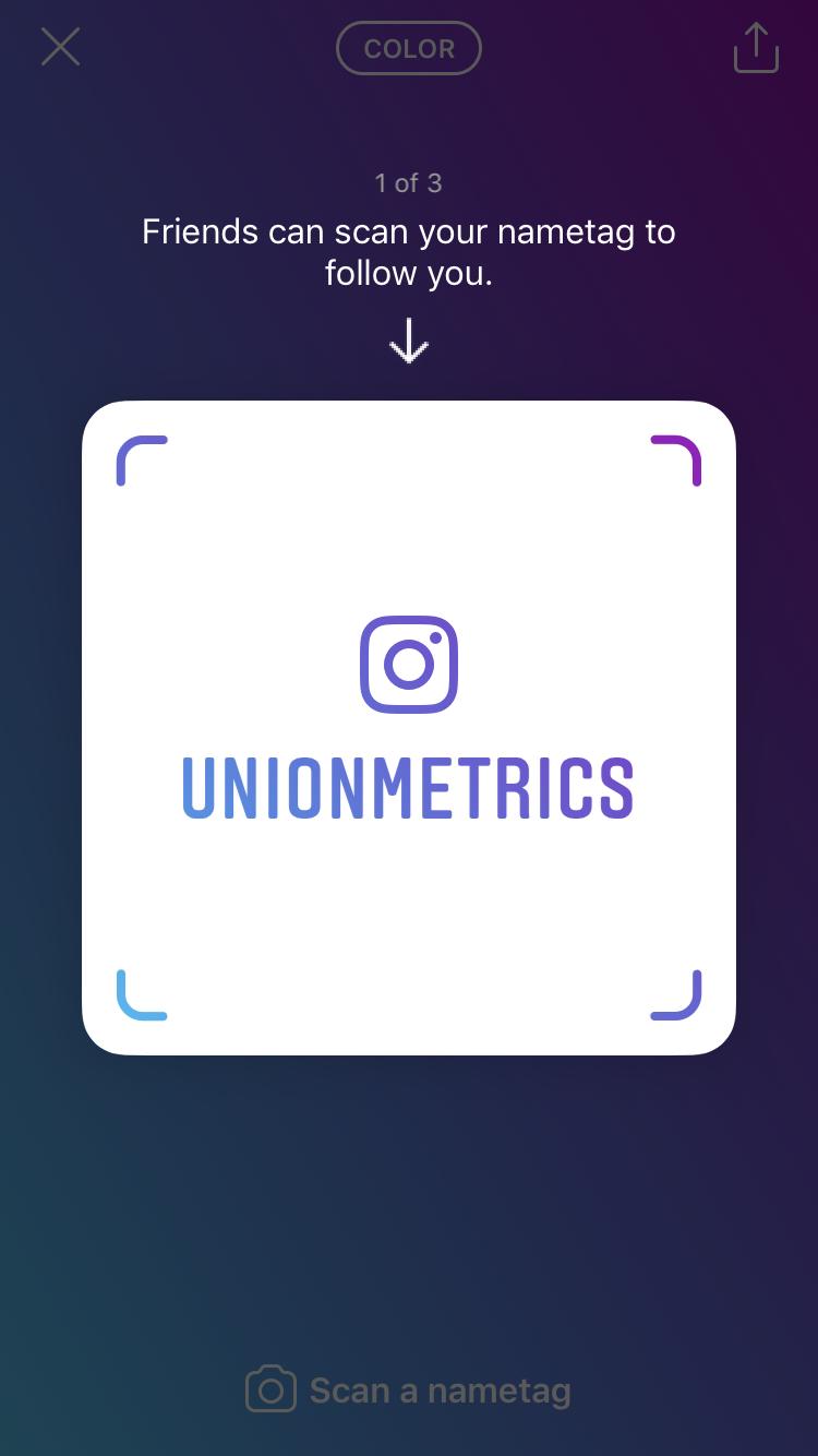 Instagram quick tip: Nametag | Union Metrics